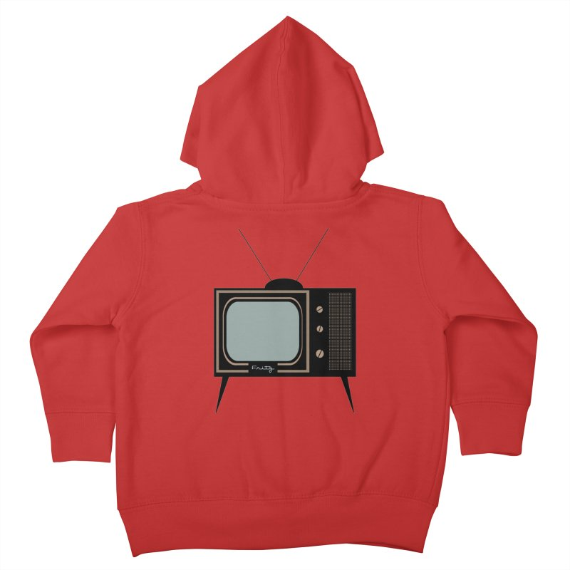 Vintage TV set Kids Toddler Zip-Up Hoody by Cowboy Goods Artist Shop
