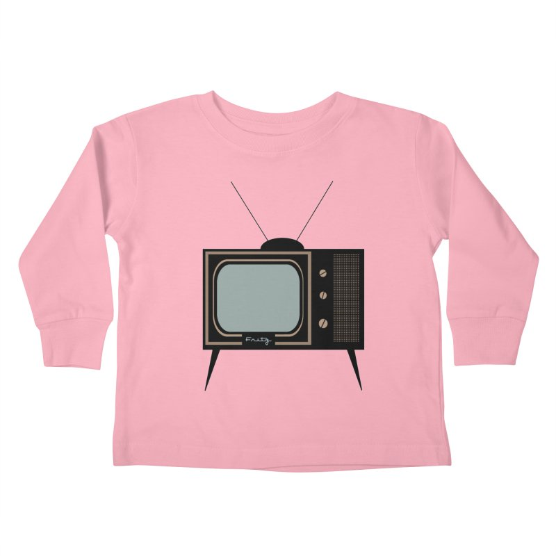 Vintage TV set Kids Toddler Longsleeve T-Shirt by Cowboy Goods Artist Shop