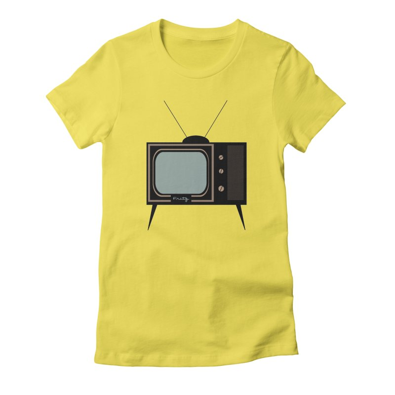 Vintage TV set Women's T-Shirt by Cowboy Goods Artist Shop