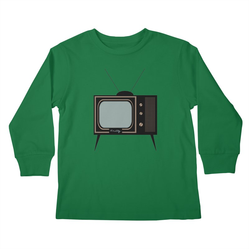 Vintage TV set Kids Longsleeve T-Shirt by Cowboy Goods Artist Shop