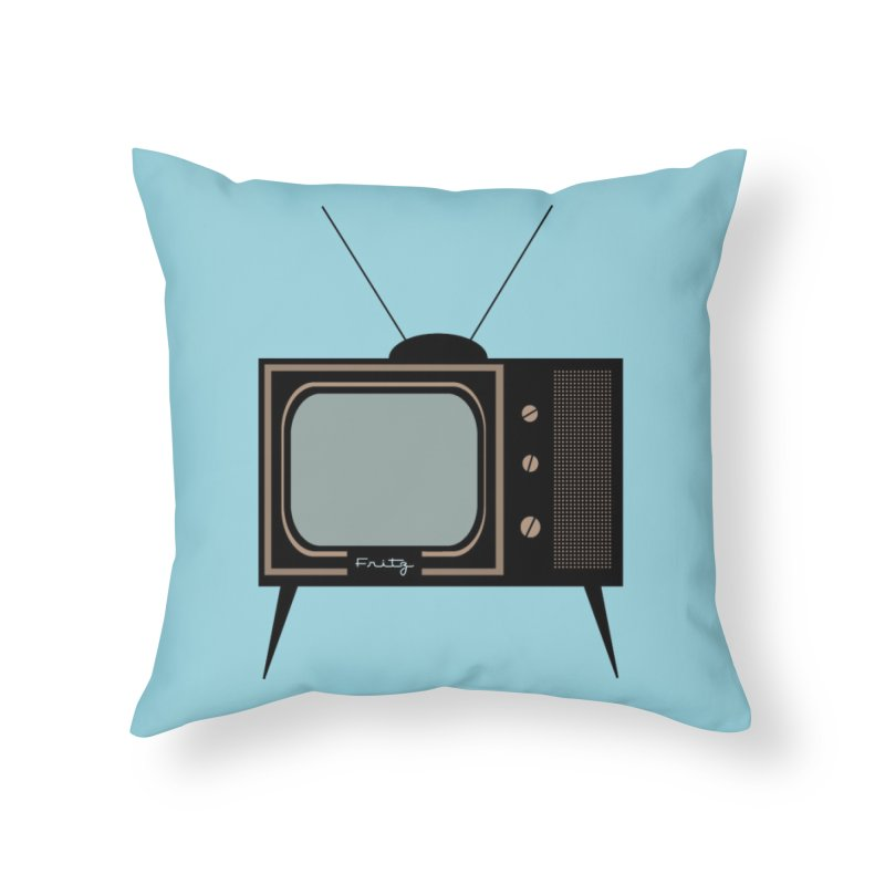 Vintage TV set Home Throw Pillow by Cowboy Goods Artist Shop