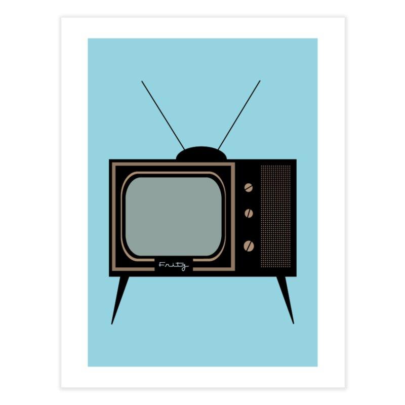 Vintage TV set Home Fine Art Print by Cowboy Goods Artist Shop