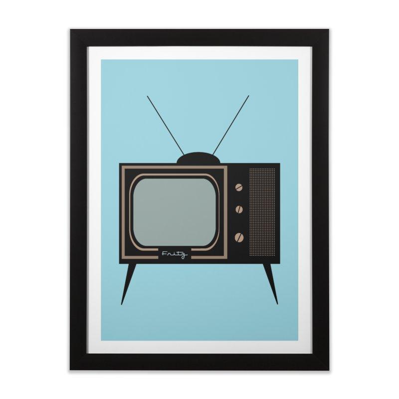 Vintage TV set Home Framed Fine Art Print by Cowboy Goods Artist Shop