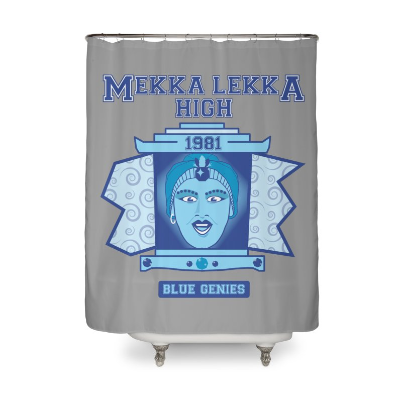 Mekka Lekka High Home Shower Curtain by Cowboy Goods Artist Shop