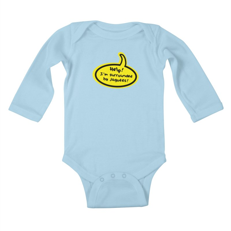 Jagoffs bubble Kids Baby Longsleeve Bodysuit by Cowboy Goods Artist Shop