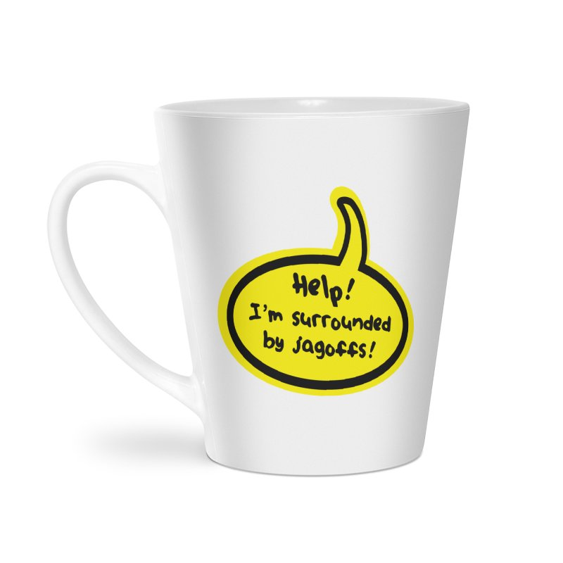 Jagoffs bubble Accessories Latte Mug by Cowboy Goods Artist Shop