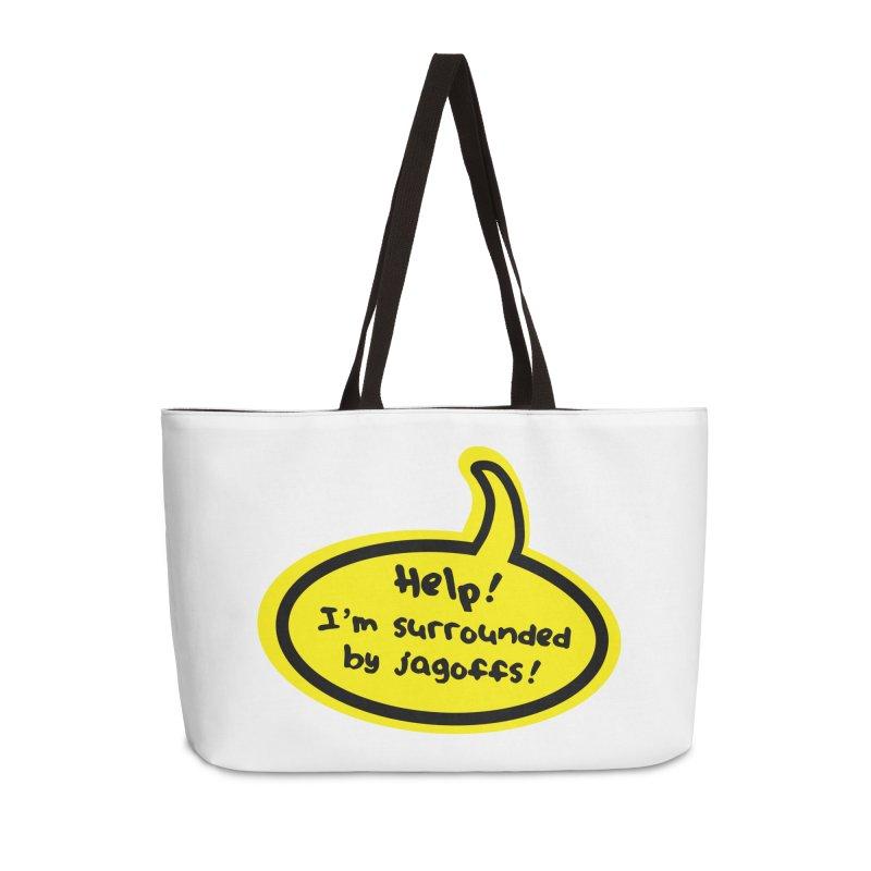 Jagoffs bubble Accessories Weekender Bag Bag by Cowboy Goods Artist Shop
