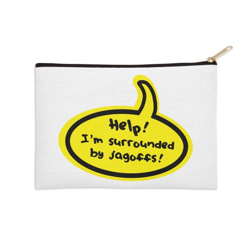 Jagoffs bubble Accessories Zip Pouch by Cowboy Goods Artist Shop