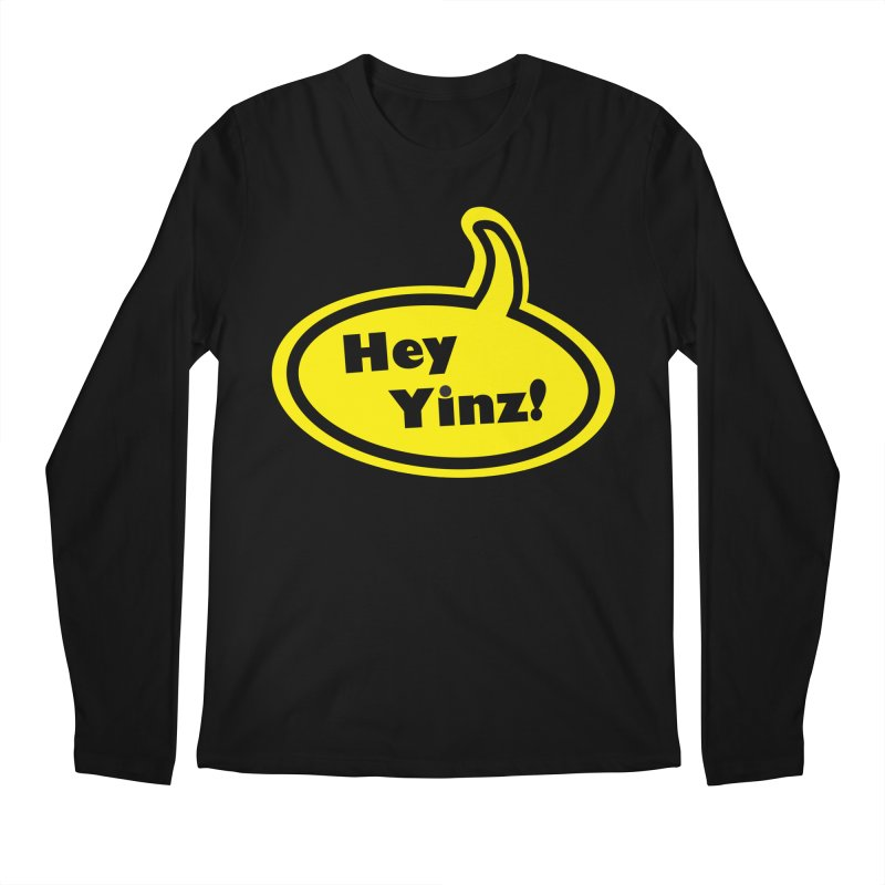 Hey Yinz Bubble Men's Regular Longsleeve T-Shirt by Cowboy Goods Artist Shop