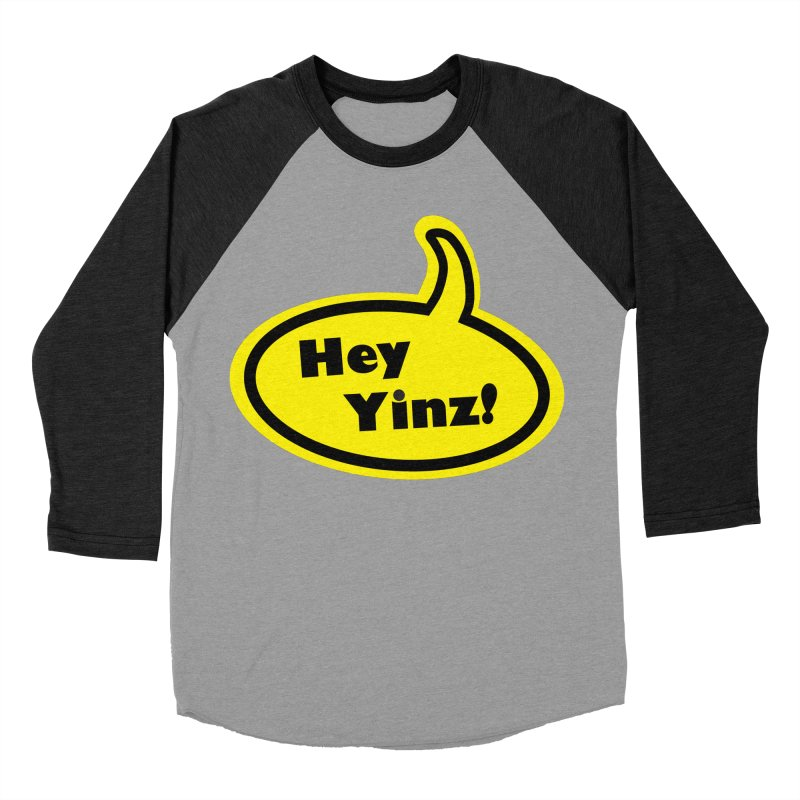Hey Yinz Bubble Men's Baseball Triblend Longsleeve T-Shirt by Cowboy Goods Artist Shop