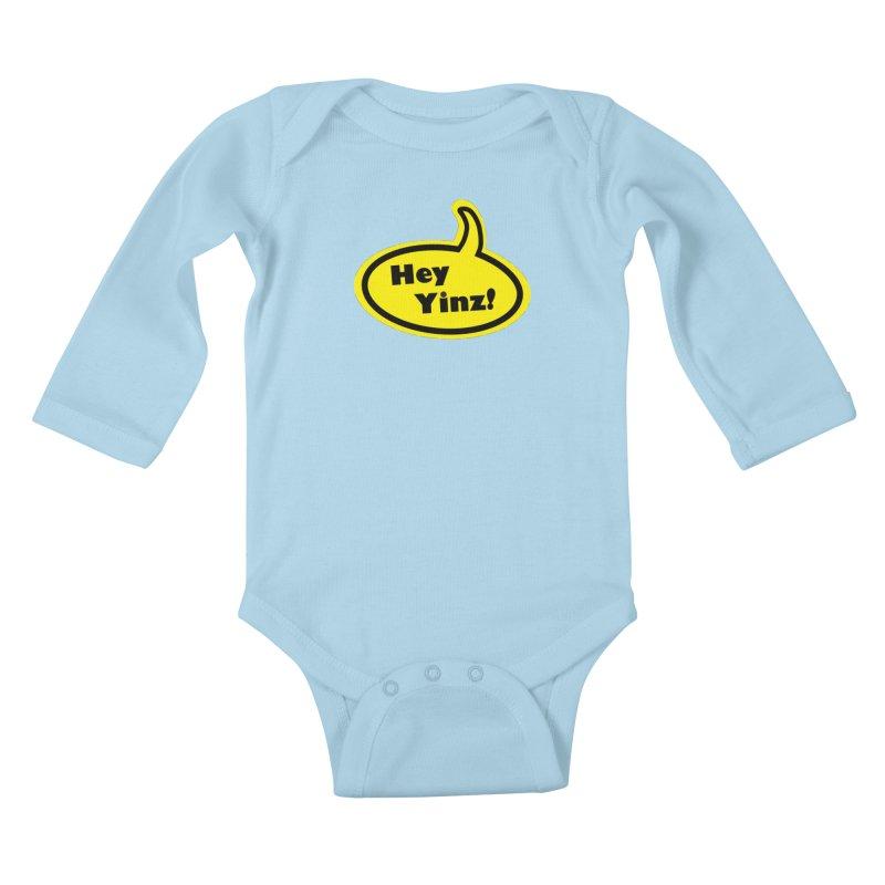 Hey Yinz Bubble Kids Baby Longsleeve Bodysuit by Cowboy Goods Artist Shop