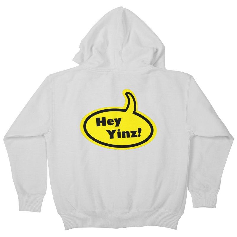 Hey Yinz Bubble Kids Zip-Up Hoody by Cowboy Goods Artist Shop