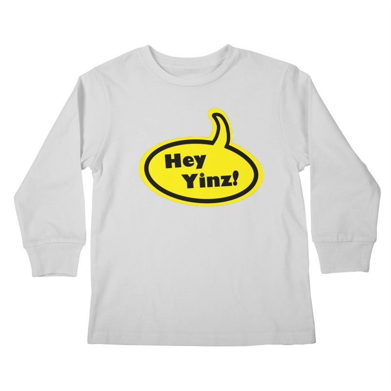 Hey Yinz Bubble Kids Longsleeve T-Shirt by Cowboy Goods Artist Shop