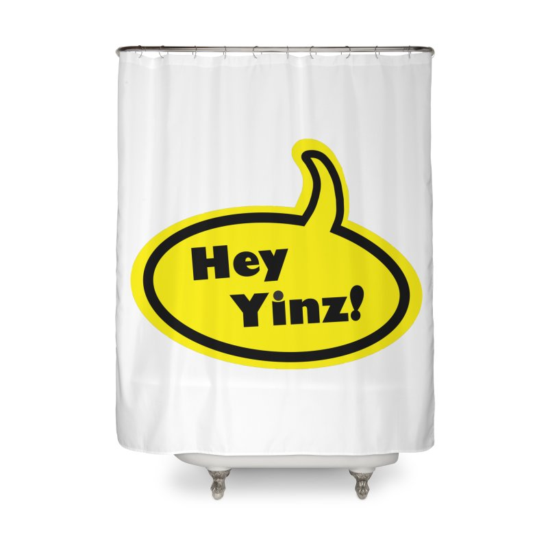 Hey Yinz Bubble Home Shower Curtain by Cowboy Goods Artist Shop