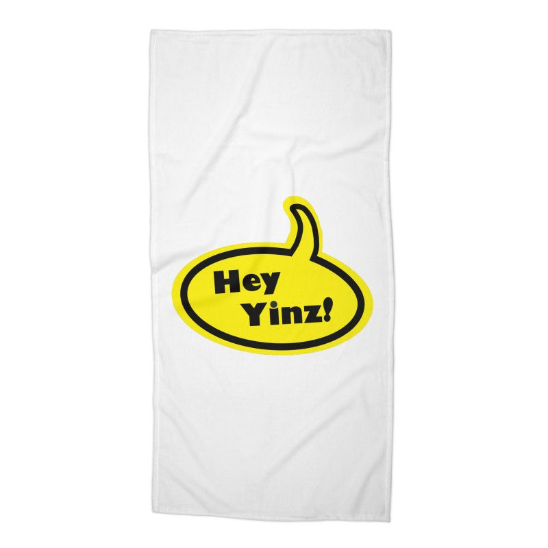 Hey Yinz Bubble Accessories Beach Towel by Cowboy Goods Artist Shop