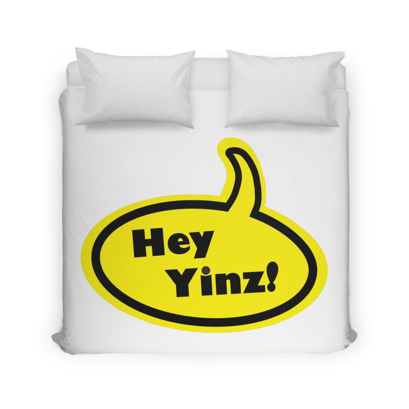 Hey Yinz Bubble Home Duvet by Cowboy Goods Artist Shop