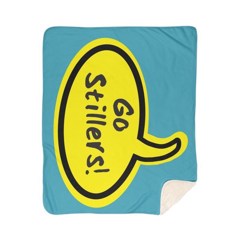 Go Stillers Bubble Home Blanket by Cowboy Goods Artist Shop