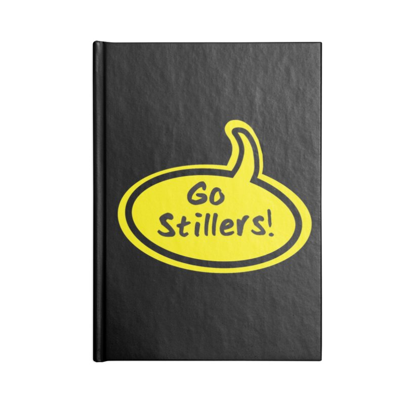 Go Stillers Bubble Accessories Notebook by Cowboy Goods Artist Shop