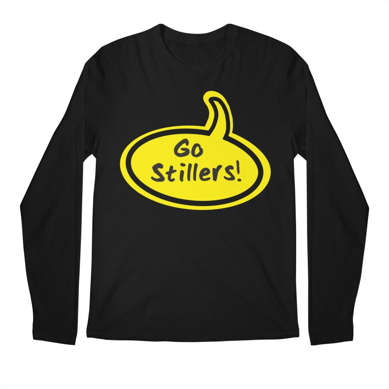 Go Stillers Bubble Men's Regular Longsleeve T-Shirt by Cowboy Goods Artist Shop