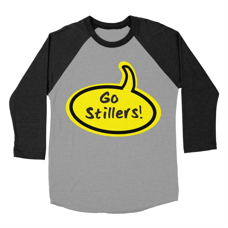 Go Stillers Bubble in Women's Baseball Triblend T-Shirt Heather Onyx Sleeves by Cowboy Goods Artist Shop