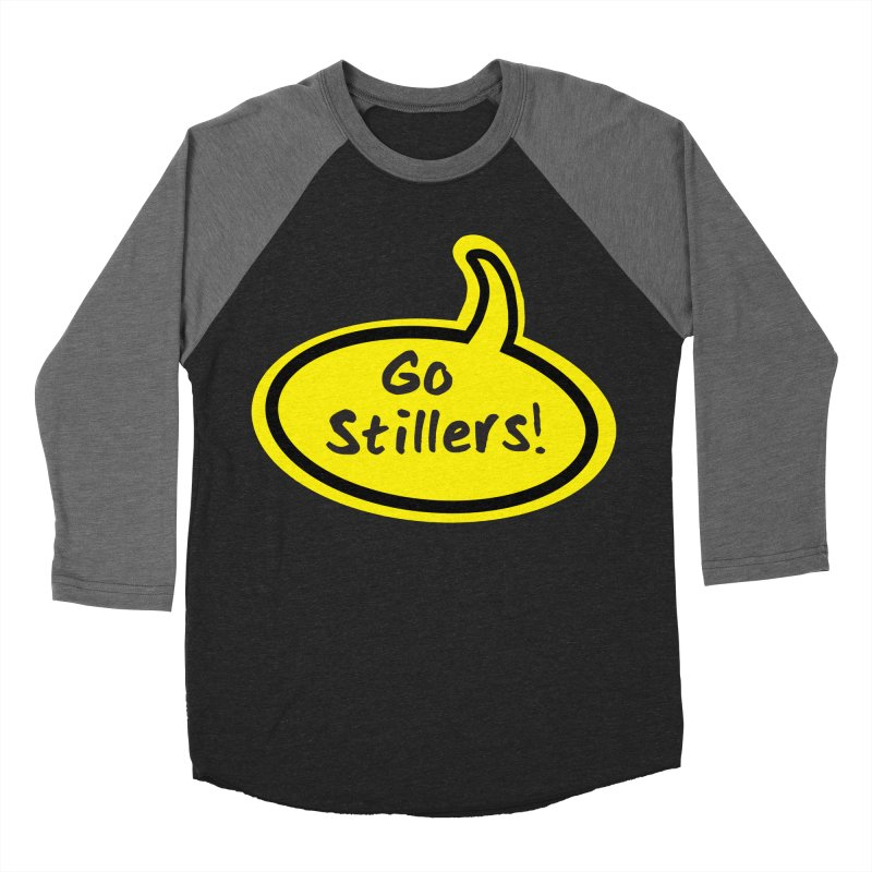 Go Stillers Bubble Men's Baseball Triblend Longsleeve T-Shirt by Cowboy Goods Artist Shop