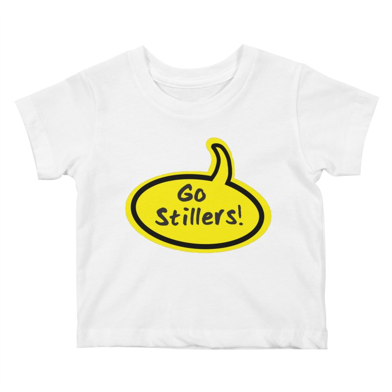 Go Stillers Bubble in Kids Baby T-Shirt White by Cowboy Goods Artist Shop