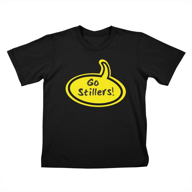 Go Stillers Bubble Kids T-Shirt by Cowboy Goods Artist Shop