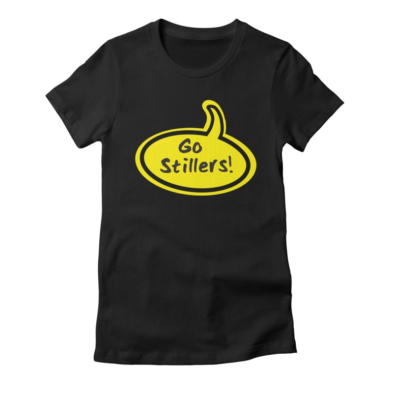 Go Stillers Bubble Women's Fitted T-Shirt by Cowboy Goods Artist Shop