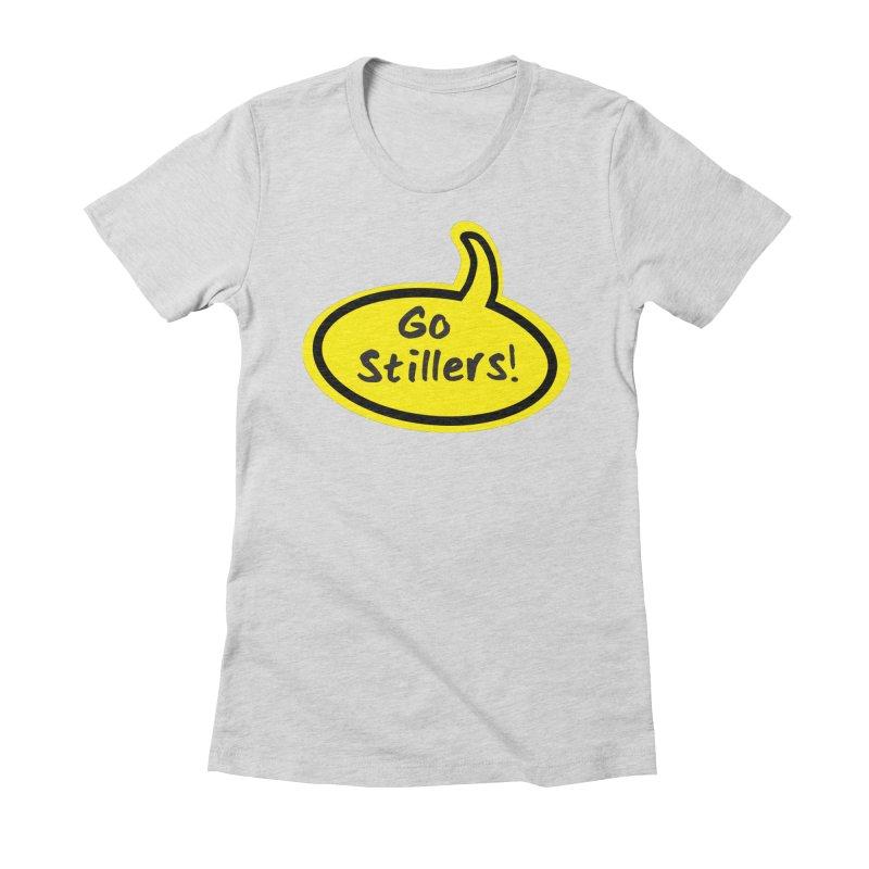 Go Stillers Bubble Women's Fitted T-Shirt by Cowboy Goods Artist Shop