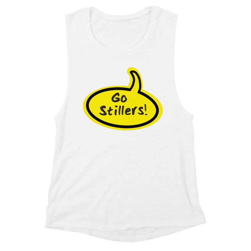 Go Stillers Bubble Women's Muscle Tank by Cowboy Goods Artist Shop