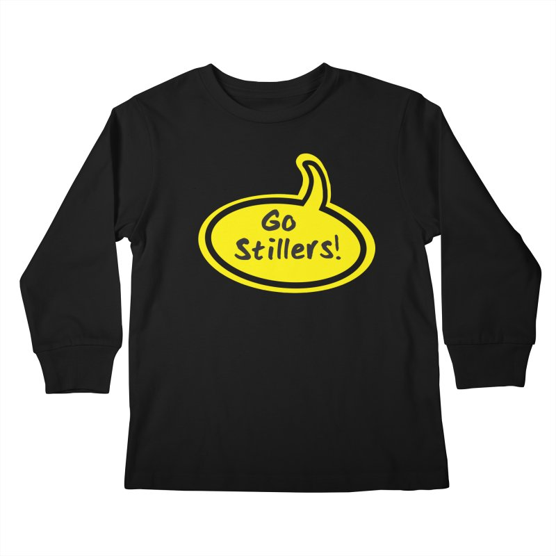 Go Stillers Bubble Kids Longsleeve T-Shirt by Cowboy Goods Artist Shop
