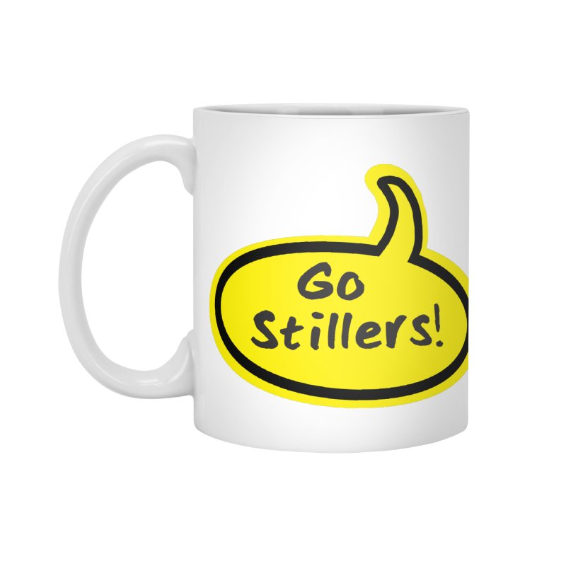 Go Stillers Bubble Accessories Mug by Cowboy Goods Artist Shop