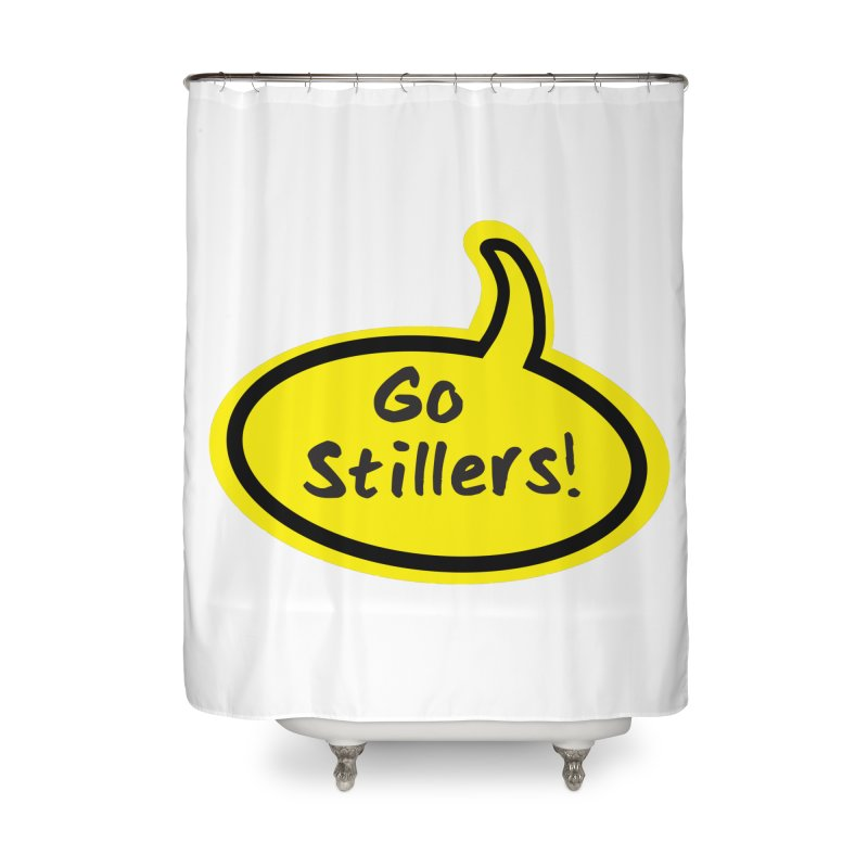 Go Stillers Bubble Home Shower Curtain by Cowboy Goods Artist Shop