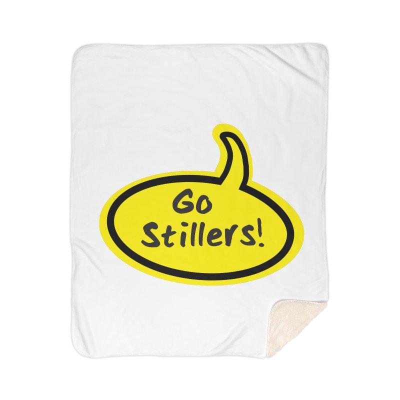 Go Stillers Bubble Home Sherpa Blanket Blanket by Cowboy Goods Artist Shop