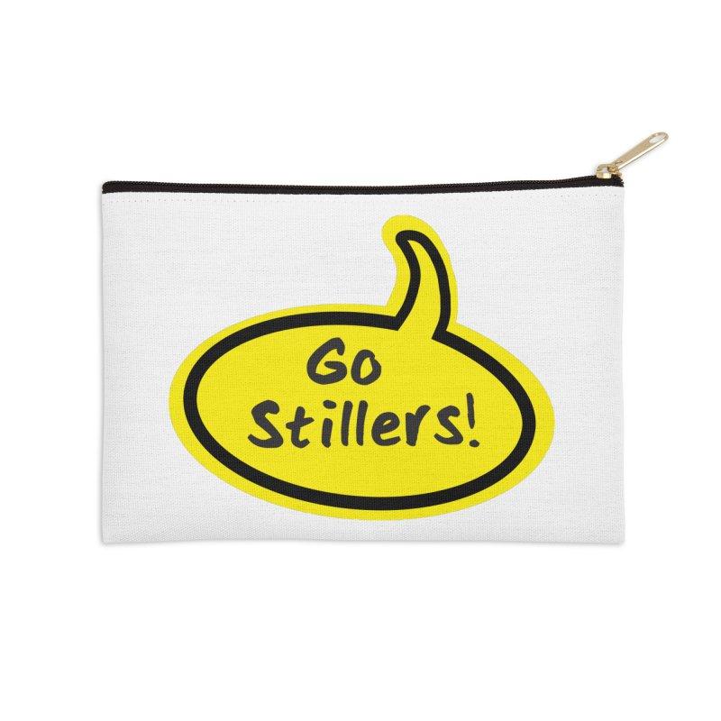 Go Stillers Bubble Accessories Zip Pouch by Cowboy Goods Artist Shop