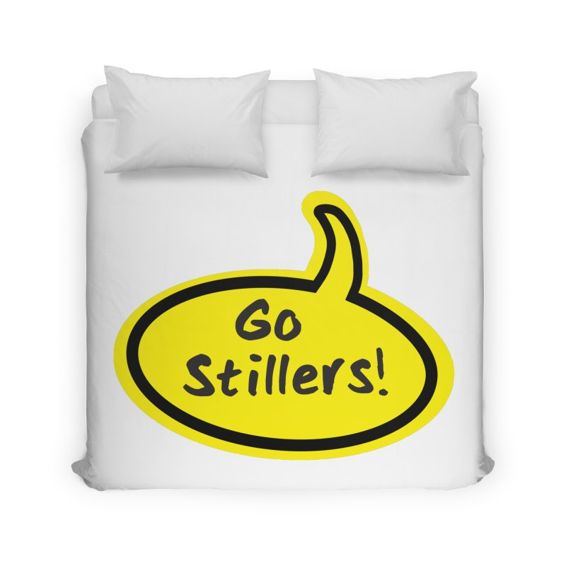 Go Stillers Bubble Home Duvet by Cowboy Goods Artist Shop