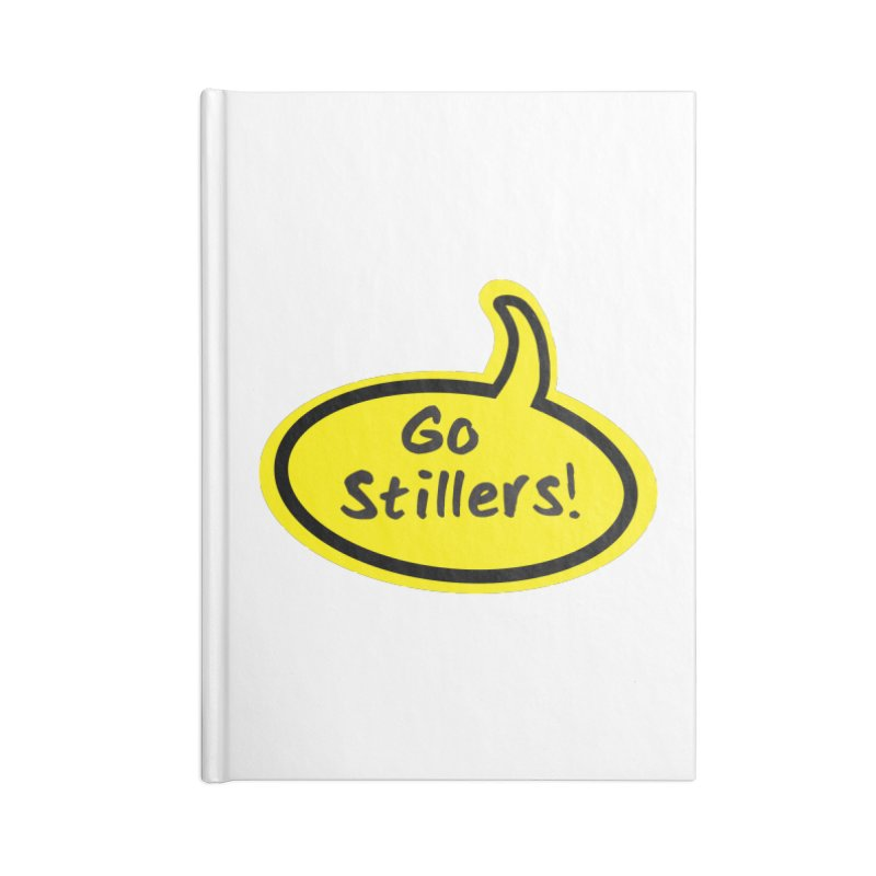 Go Stillers Bubble Accessories Blank Journal Notebook by Cowboy Goods Artist Shop