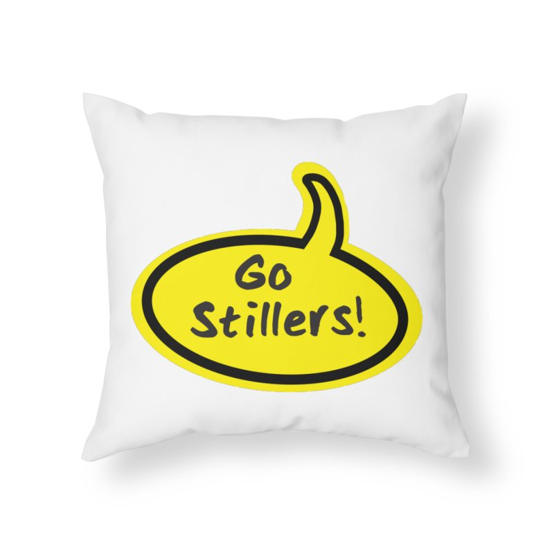 Go Stillers Bubble Home Throw Pillow by Cowboy Goods Artist Shop