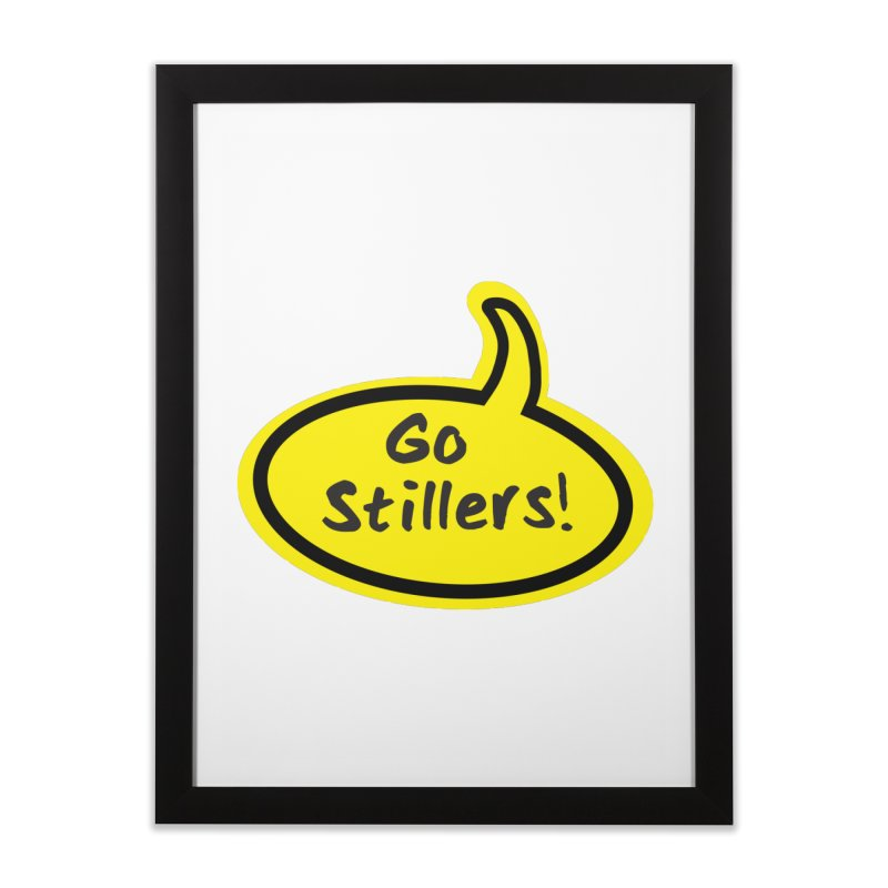 Go Stillers Bubble Home Framed Fine Art Print by Cowboy Goods Artist Shop