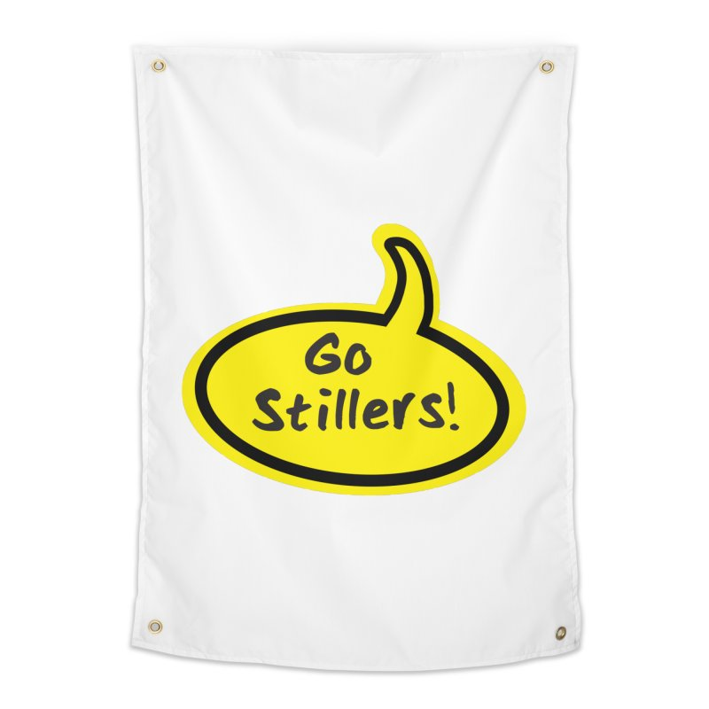 Go Stillers Bubble Home Tapestry by Cowboy Goods Artist Shop