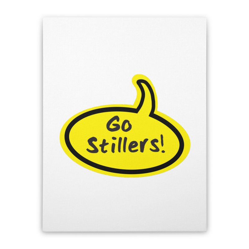 Go Stillers Bubble Home Stretched Canvas by Cowboy Goods Artist Shop