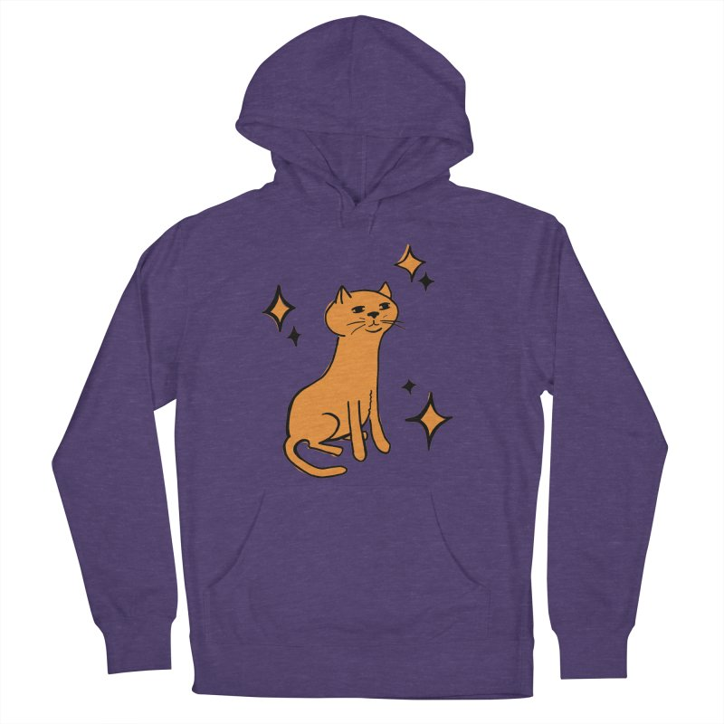 Just a Cat Women's French Terry Pullover Hoody by Cowboy Goods Artist Shop