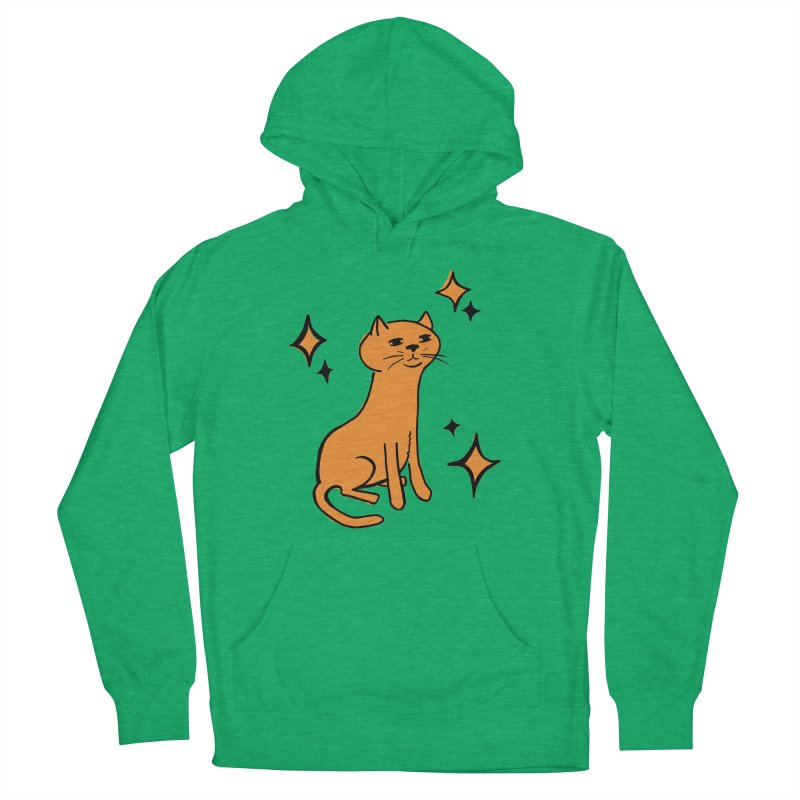 Just a Cat Men's French Terry Pullover Hoody by Cowboy Goods Artist Shop
