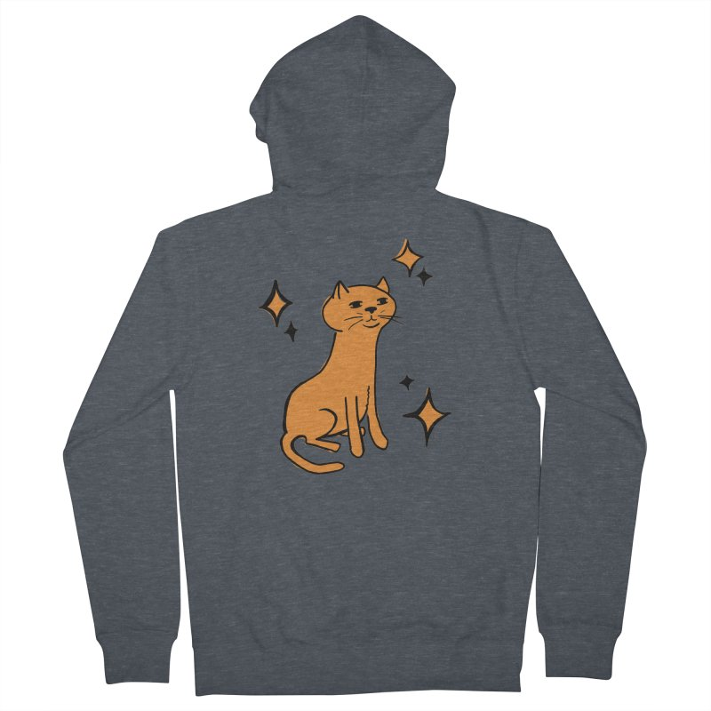 Just a Cat Women's French Terry Zip-Up Hoody by Cowboy Goods Artist Shop