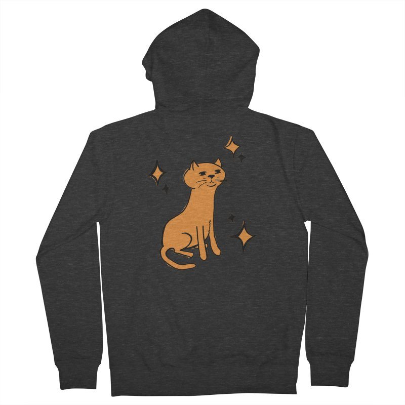 Just a Cat Men's French Terry Zip-Up Hoody by Cowboy Goods Artist Shop