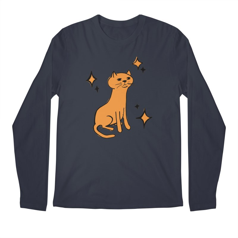Just a Cat Men's Regular Longsleeve T-Shirt by Cowboy Goods Artist Shop
