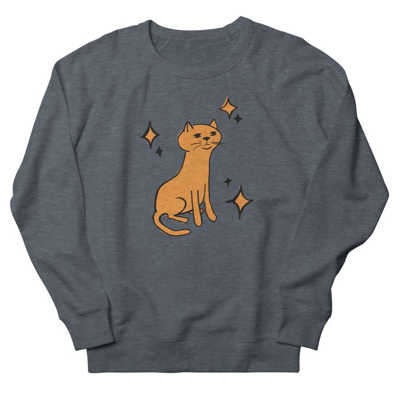 Just a Cat Women's French Terry Sweatshirt by Cowboy Goods Artist Shop