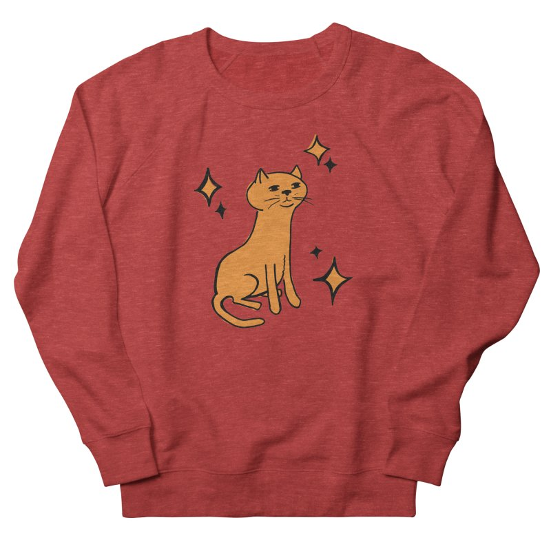 Just a Cat Men's French Terry Sweatshirt by Cowboy Goods Artist Shop