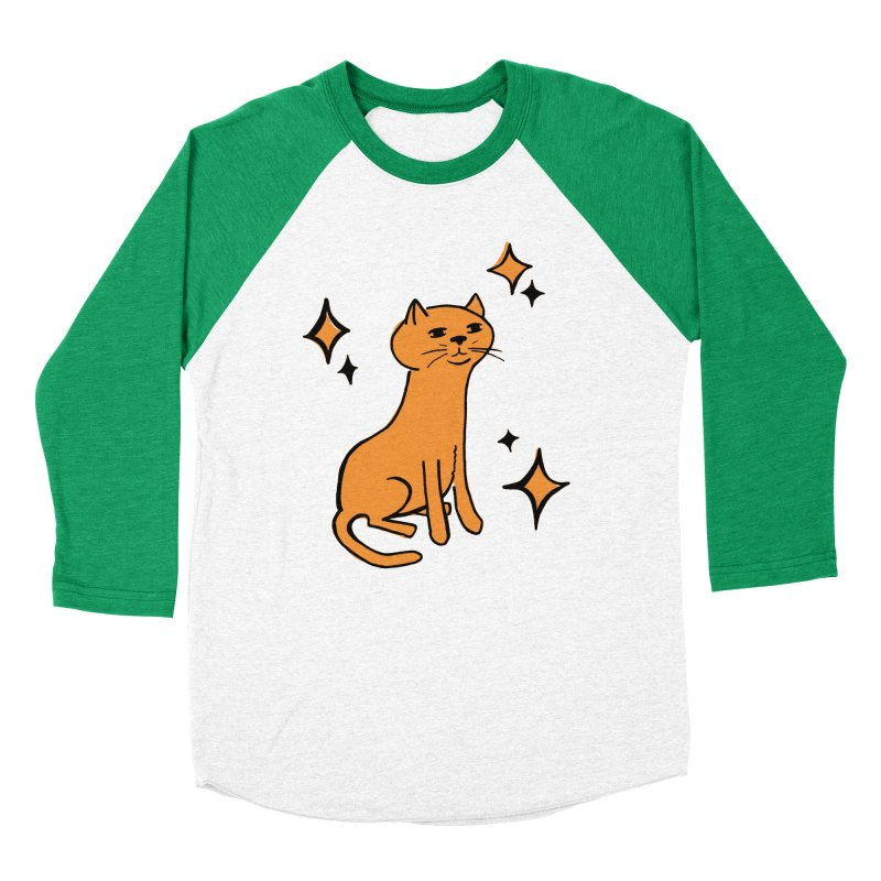 Just a Cat Women's Baseball Triblend Longsleeve T-Shirt by Cowboy Goods Artist Shop