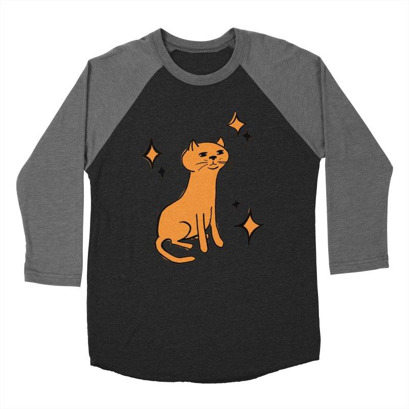 Just a Cat Men's Baseball Triblend Longsleeve T-Shirt by Cowboy Goods Artist Shop